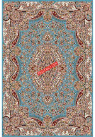 فرش ساوین عقیق آبی کلاسیک اتاق پذیرایی