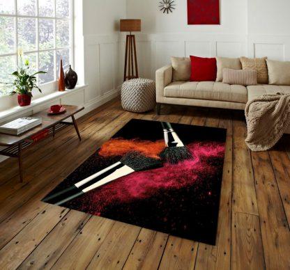 فرش ساوین بوم رنگ مدرن و فانتزی
