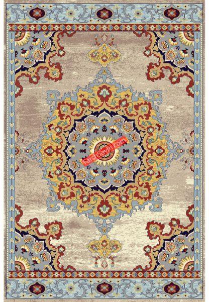 فرش ساوین پرنا کرم کلاسیک