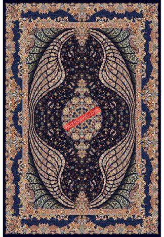 فرش ساوین شهبال سرمه ای کلاسیک پذیرایی