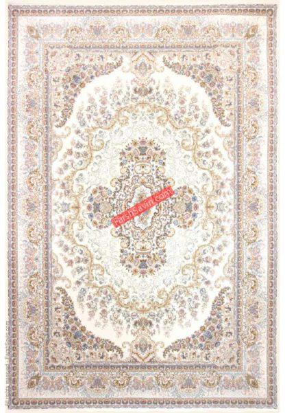فرش ساوین توسکا کرم کلاسیک اتاق پذیرایی