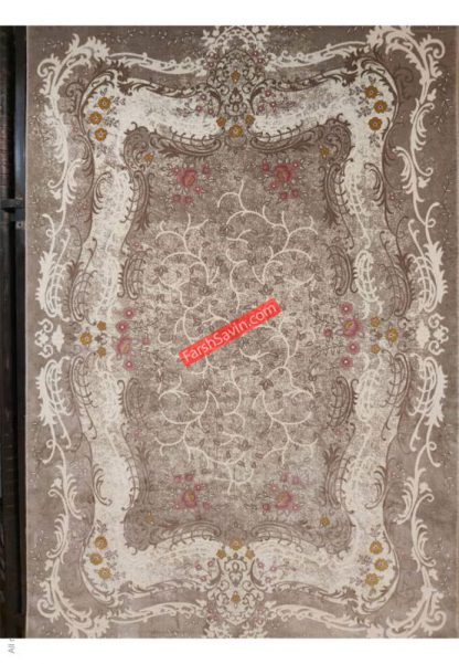 فرش ساوین 1506 صورتی مدرن و فانتزی