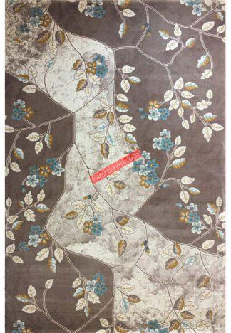 فرش ساوین 1512 آبی مدرن و فانتزی