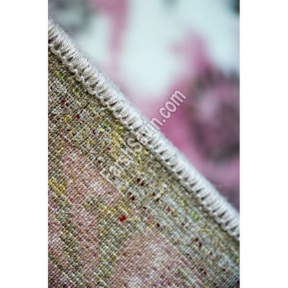 فرش ساوین 1516 صورتی مدرن و فانتزی