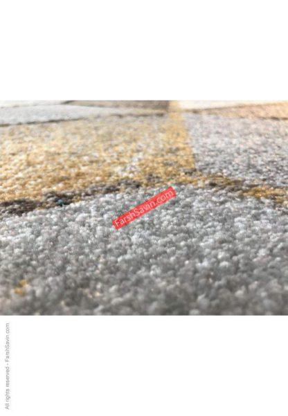 فرش ساوین 4043 مشکی مدرن و فانتزی