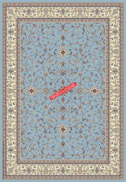 فرش ساوین 4503 زمینه سرمه ای مدرن