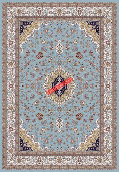 فرش ساوین 4505 زمینه آبی مدرن