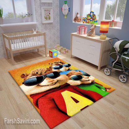 فرش ساوین 7510 آلوین و سنجاب ها اتاق کودک
