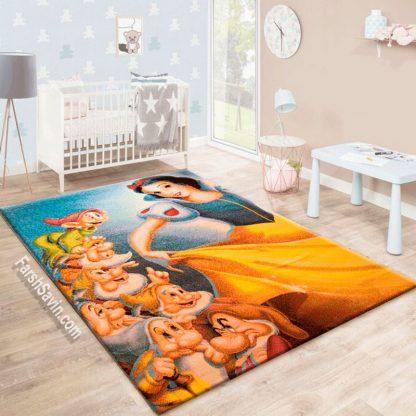 فرش ساوین 2044 سفید برفی و هفت کوتوله اتاق کودک