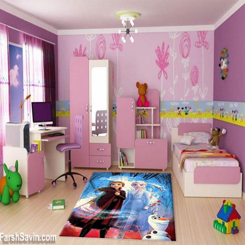 فرش ساوین طرح السا آنا مناسب اتاق کودک