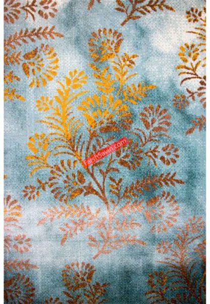 فرش ساوین 1510 آبی مدرن و فانتزی