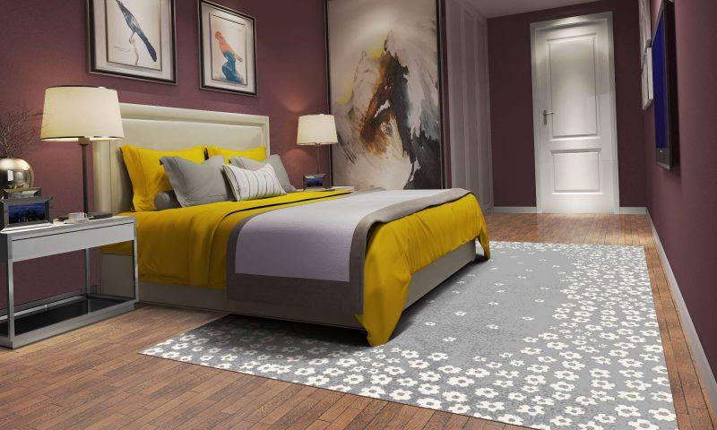 فرش ساوین 4007 نقره ای مدرن و فانتزی