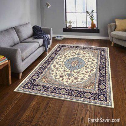 فرش ساوین 4504 کرم مدرن