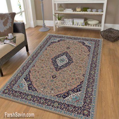 فرش ساوین 4510 شتری مدرن