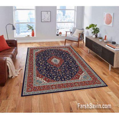 فرش ساوین 4510 آبی مدرن