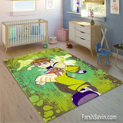 فرش ساوین طرح بن تن اتاق کودک