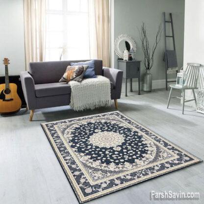 فرش ساوین آوین کاربنی اتاق پذیرایی