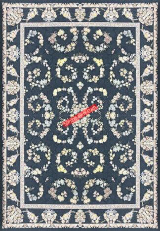 فرش ساوین گلریز کاربنی اتاق پذیرایی