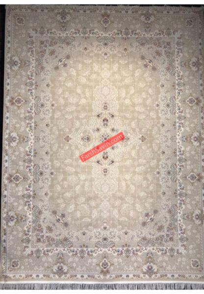 فرش ساوین روشنا کرم اتاق پذیرایی