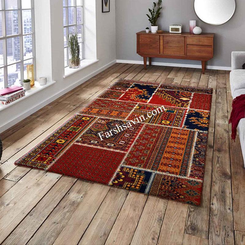 فرش ساوین چهل تیکه فرش ارزان