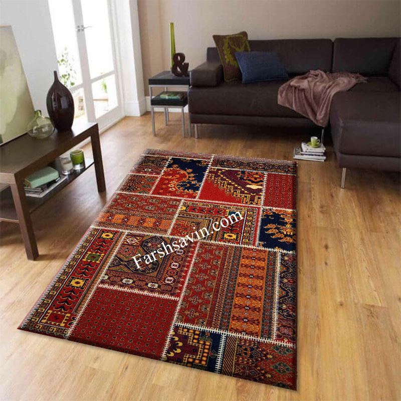 فرش ساوین چهل تیکه فرش پذیرایی
