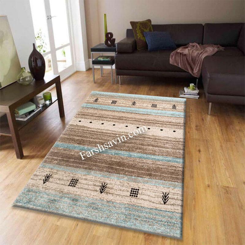 فرش ساوین 4002 شکلاتی فرش شیک