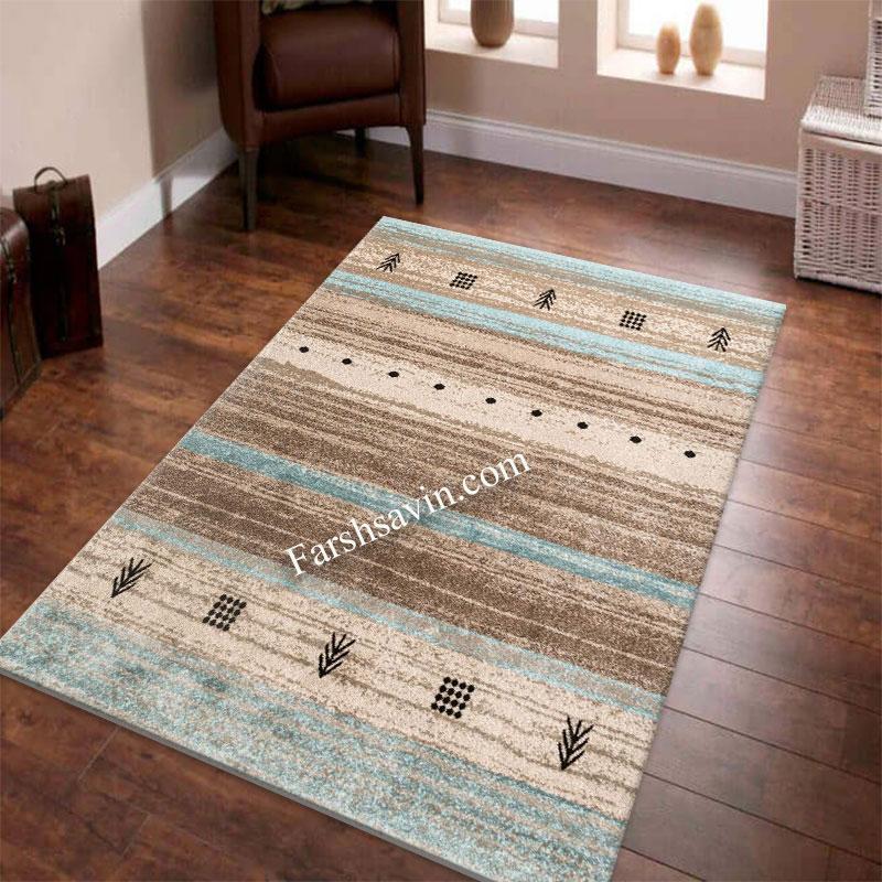فرش ساوین 4002 شکلاتی فرش با قیمت مناسب