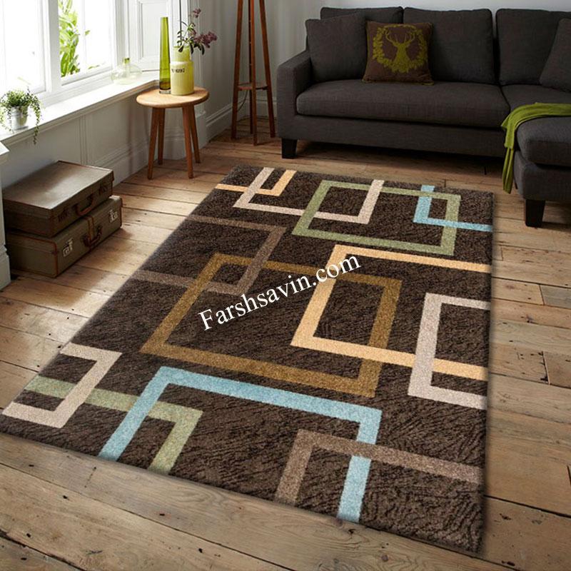 فرش ساوین 4003 نسکافه ای فرش باکیفیت