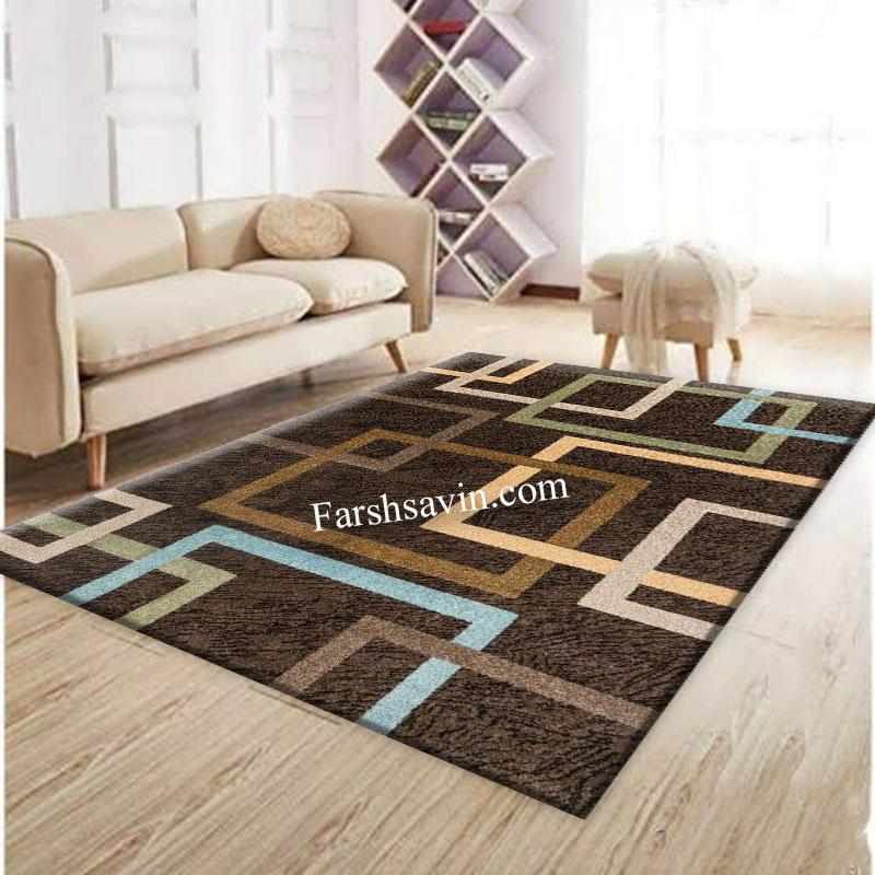 فرش ساوین 4003 نسکافه ای فرش ارزان