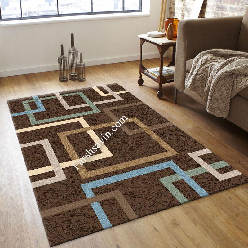 فرش ساوین 4003 نسکافه ای فرش مناسب اتاق پذیرایی