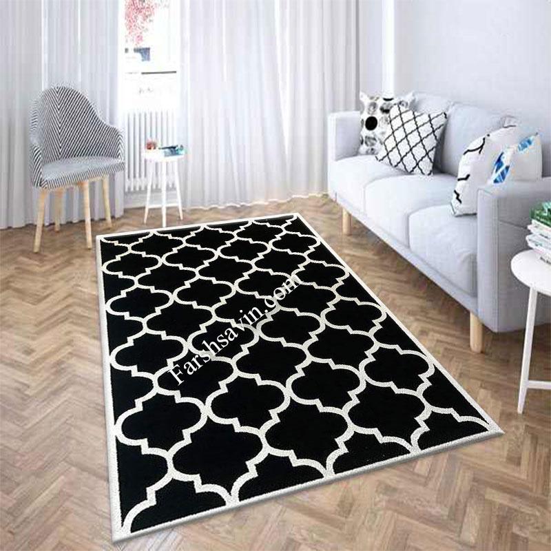 فرش ساوین 4025 مشکی فرش با کیفیت
