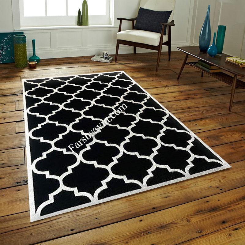 فرش ساوین 4025 مشکی فرش پرفروش
