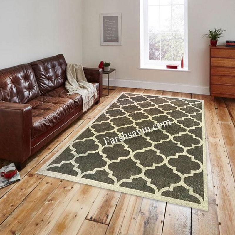 فرش ساوین 4025 طوسی فرش اتاق خواب