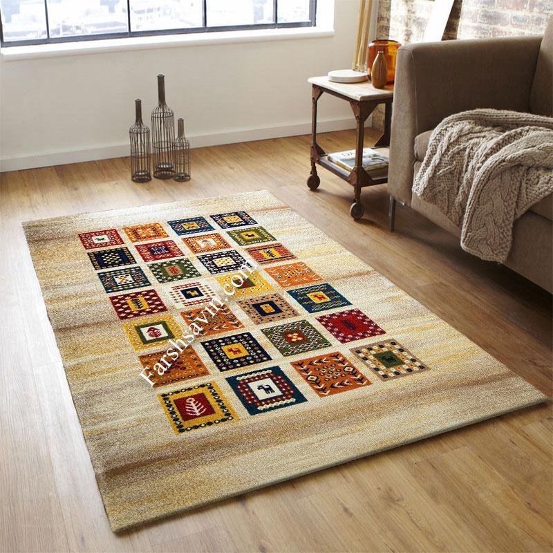 فرش ساوین مهر کرم فرش با جنس عالی