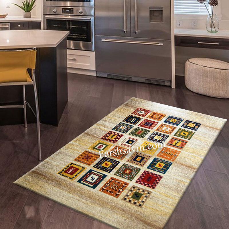 فرش ساوین مهر کرم فرش سنتی