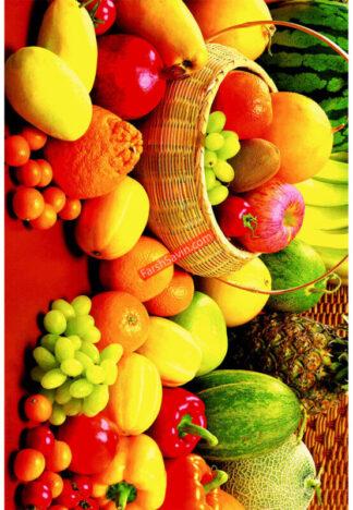 فرش ساوین کد 7553 طرح میوه