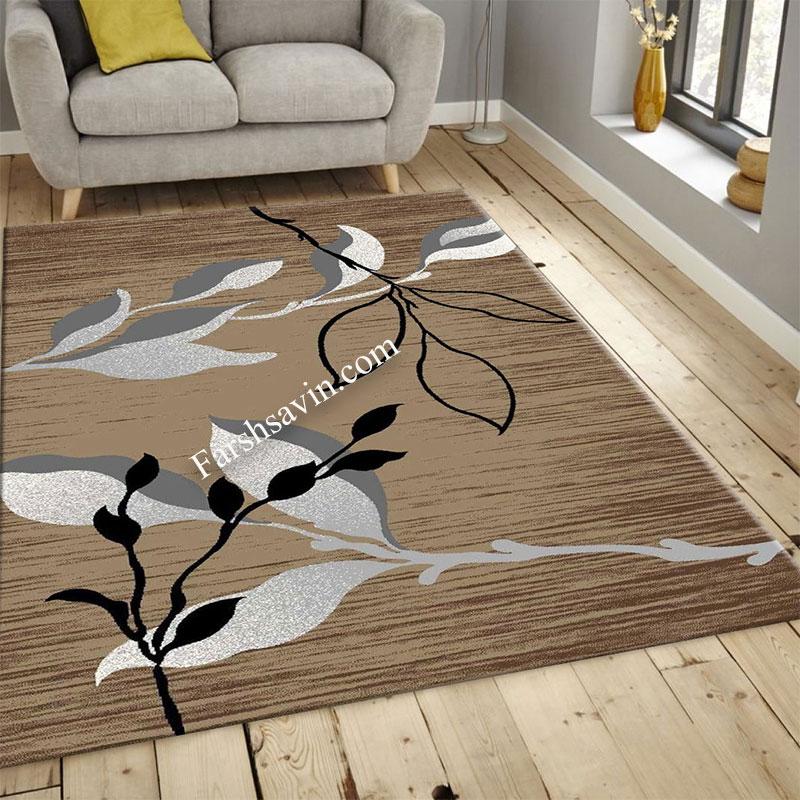 فرش ساوین 4000 شکلاتی فرش فانتزی
