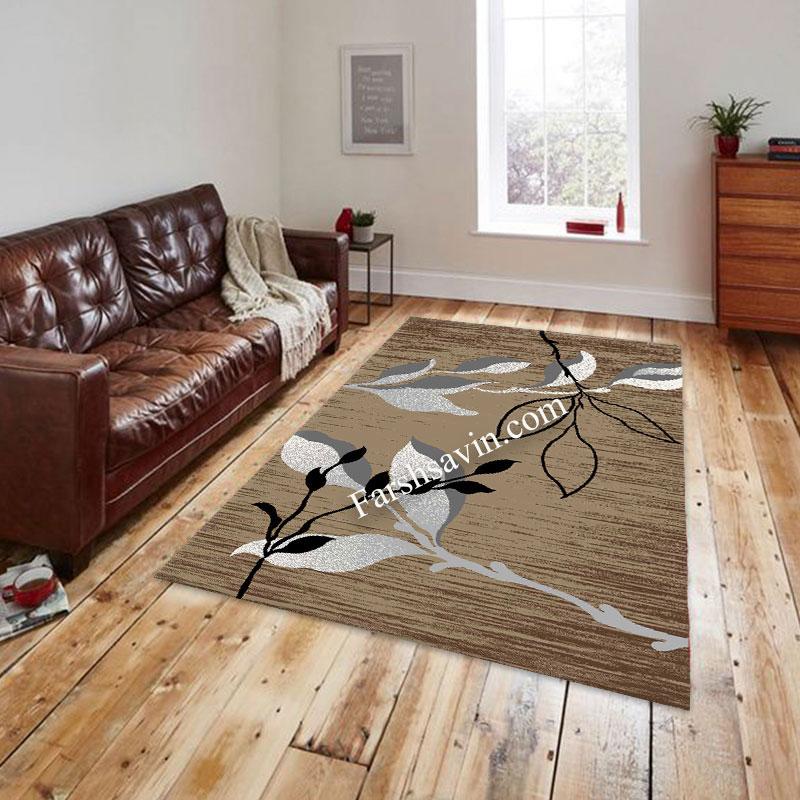 فرش ساوین 4000 شکلاتی فرش اتاق خواب