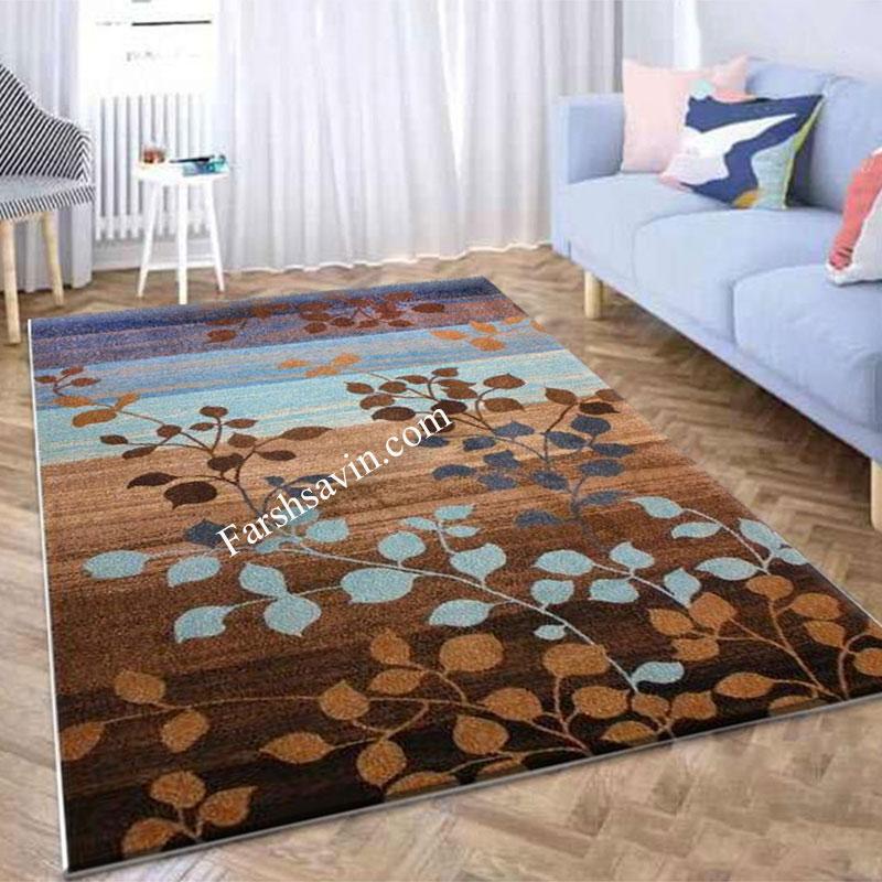 فرش ساوین 4001 شکلاتی  فرش خاص
