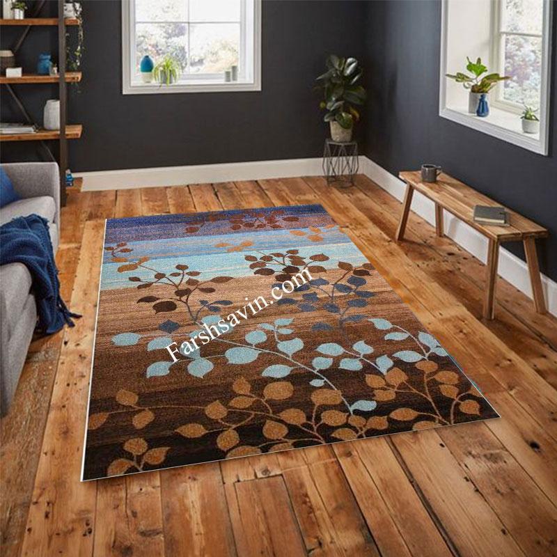 فرش ساوین 4001 شکلاتی فرش مدرن