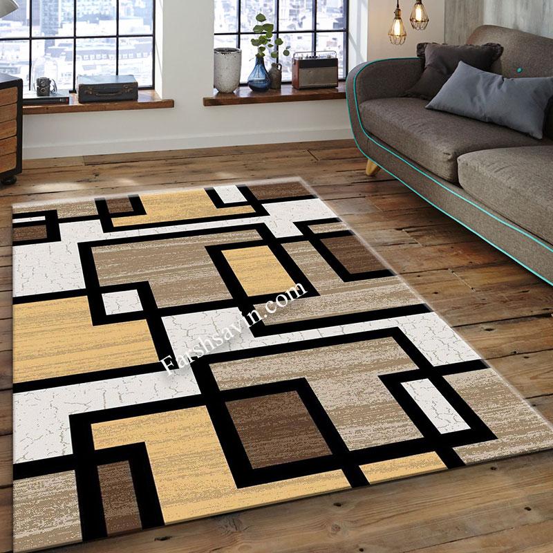 فرش ساوین 4004 کرم  فرش پر فروش