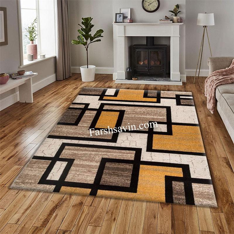 فرش ساوین 4004 کرم فرش خوش نقشه