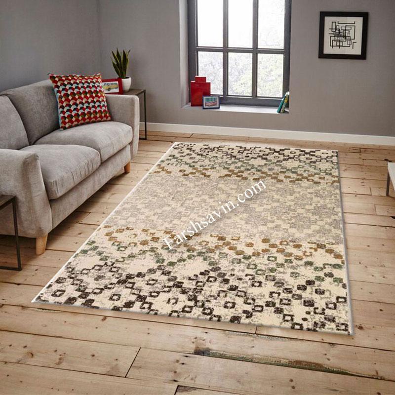 فرش ساوین 4005 کرم فرش آشپزخانه