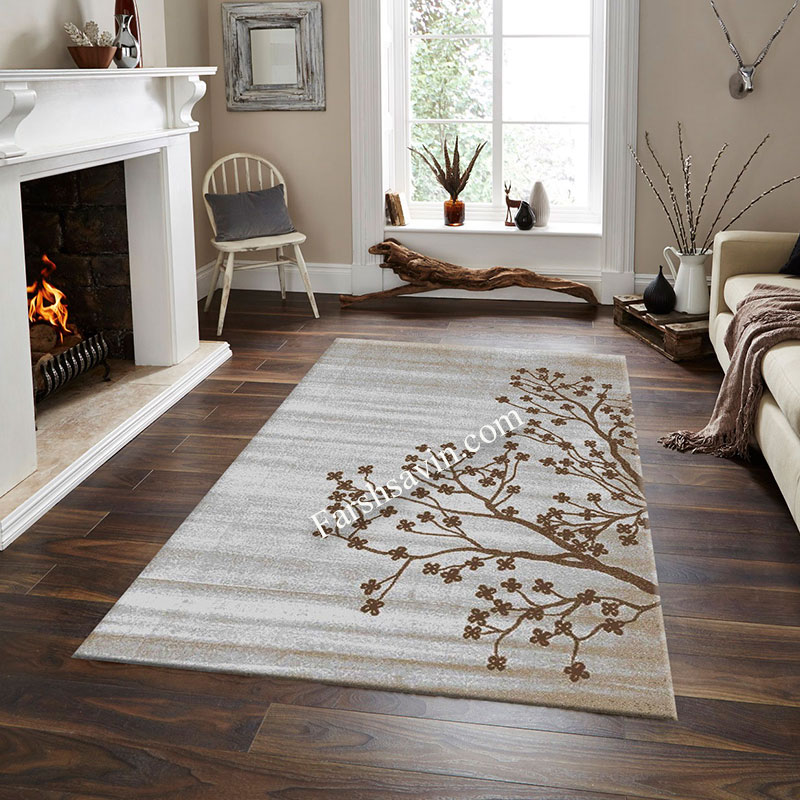 فرش ساوین 4006 نقره ای فرش پر فروش