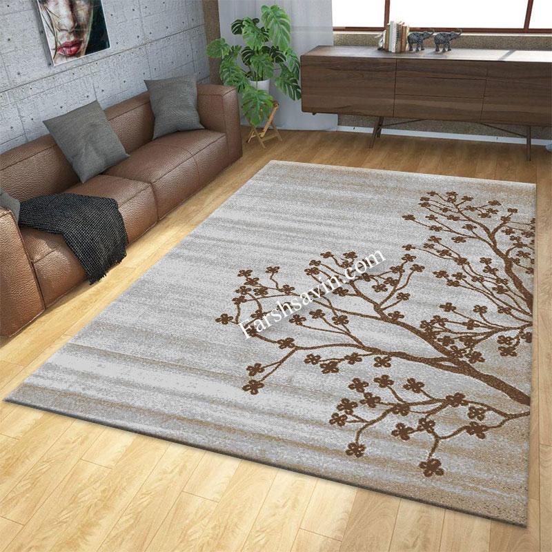فرش ساوین 4006 نقره ای فرش آشپزخانه