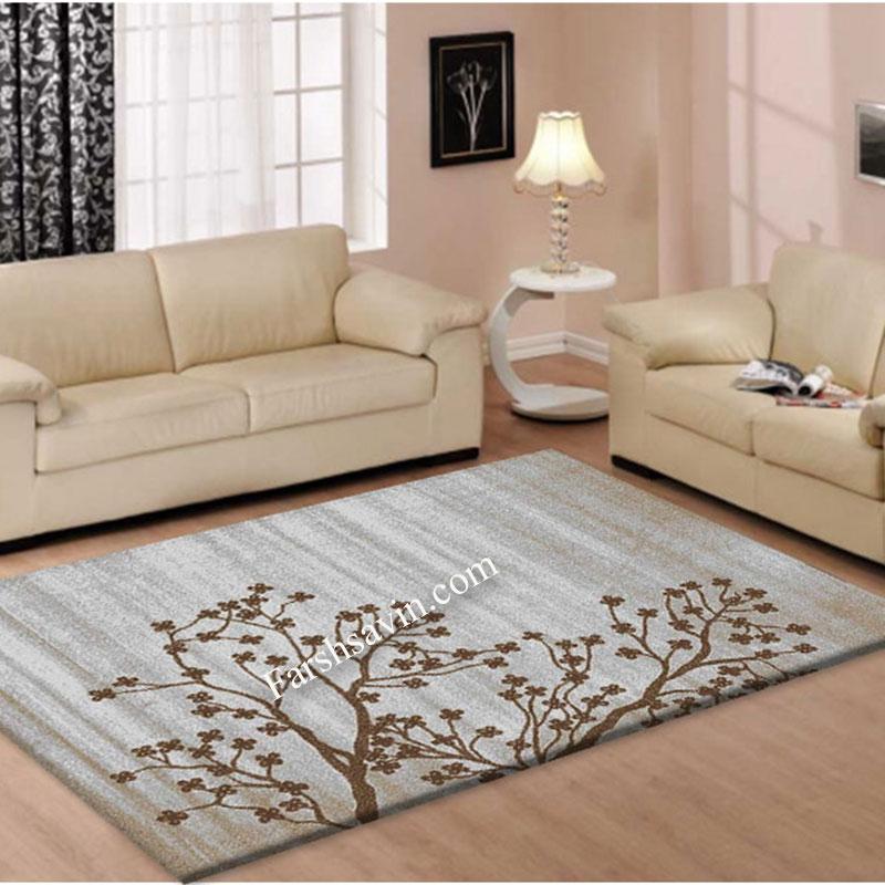 فرش ساوین 4006 نقره ای فرش اتاق خواب