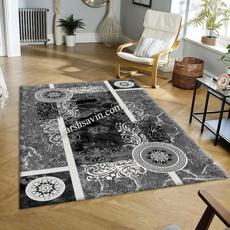 فرش ساوین 4010 مشکی فرش باکیفیت