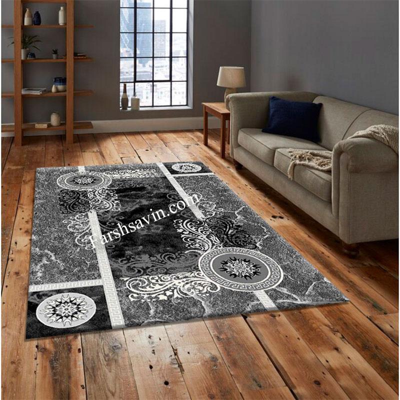 فرش ساوین 4010 مشکی فرش مناسب اتاق خواب