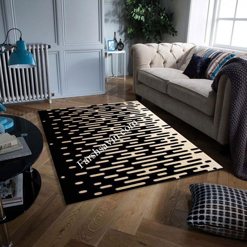فرش ساوین 4020 مشکی فرش پرفروش