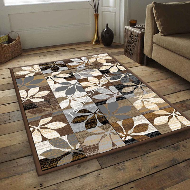 فرش ساوین 4039 نسکافه ای فرش پرفروش